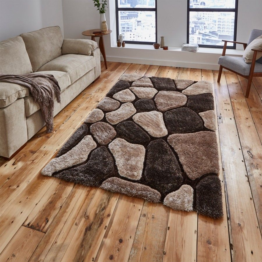 Add The Finishing Touch To A Room With This Contemporary Noble House Nh 5858 Beige Brown Rug B Tapetes Artesanais Tapetes De Frufru Tapete De Retalho