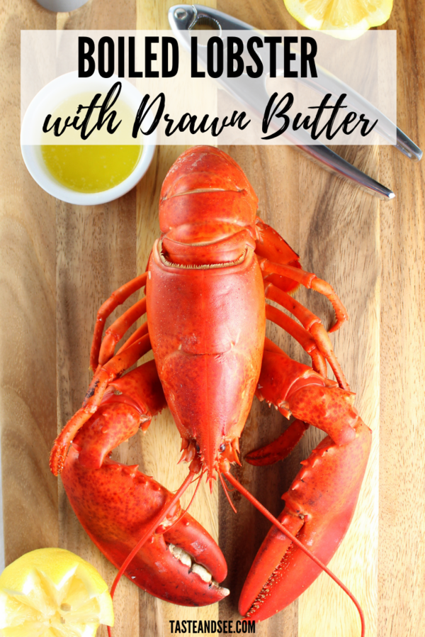 Boiled Lobster With Drawn Butter Is Sooo Easy To Make De Mystify The Question Of How To Cook Live Lobster How To Cook Lobster How To Cook Liver Boiled Food