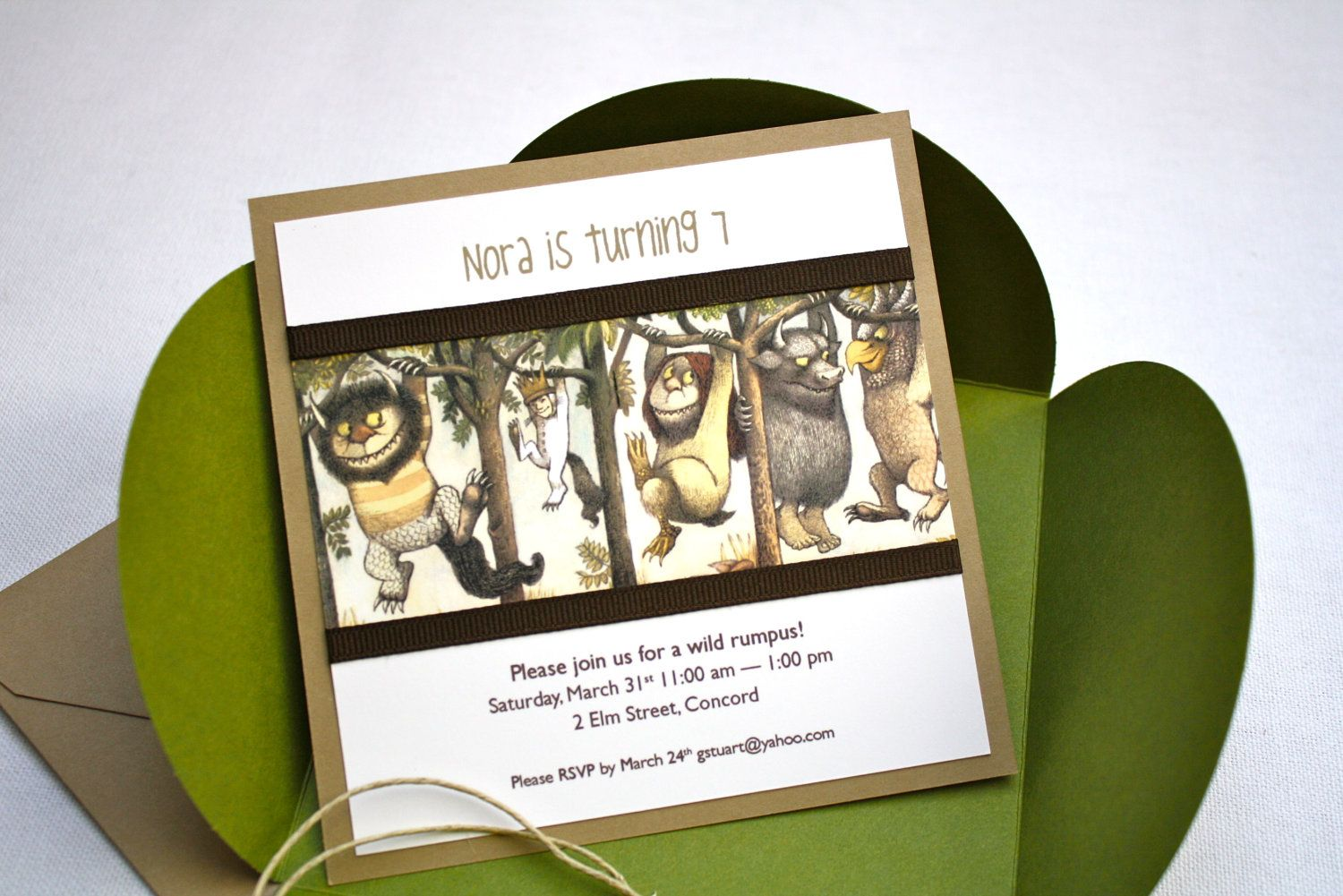 Where the Wild Things Are Birthday Invitation Petal Enclosure