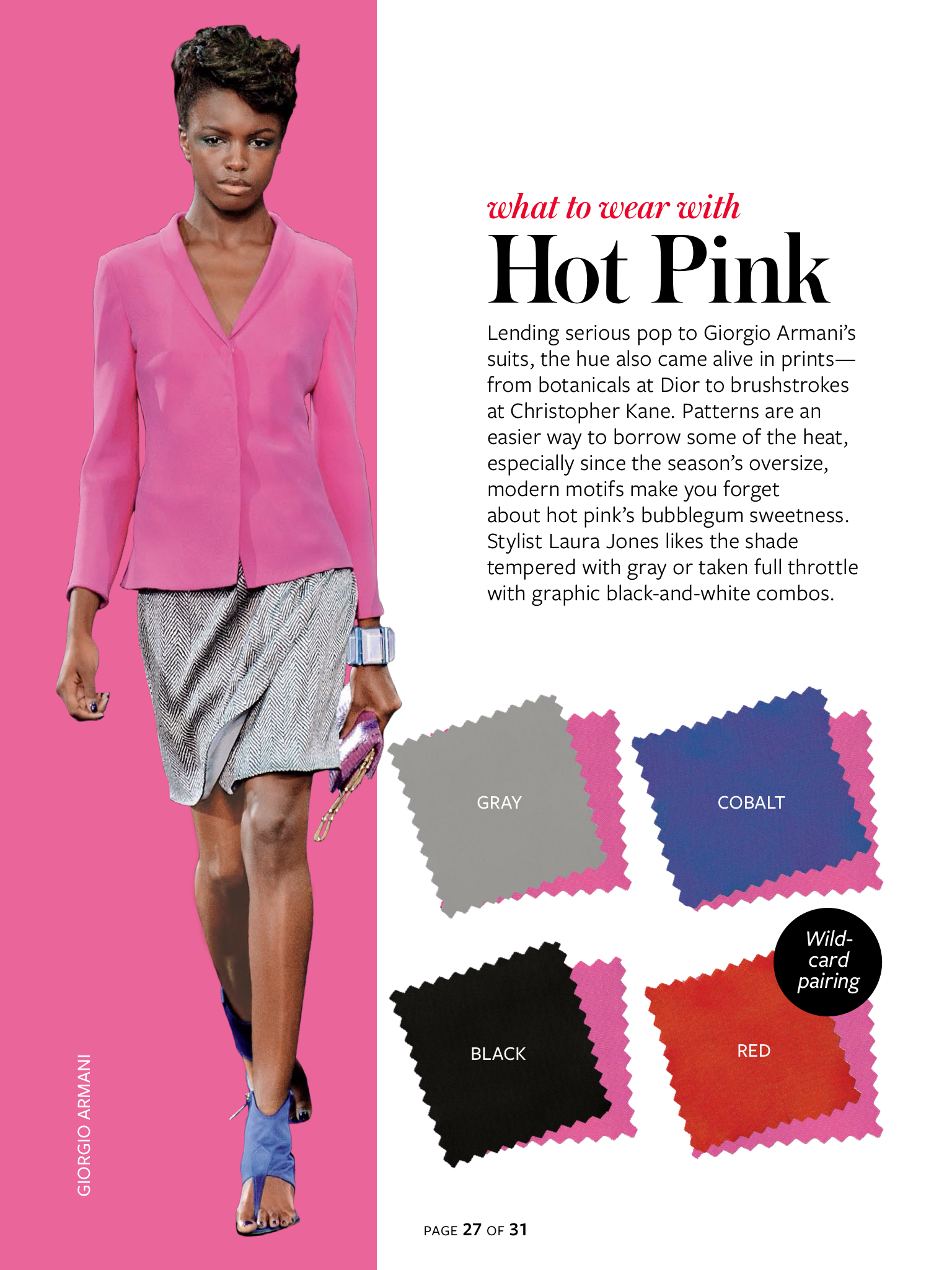 Instyle Color Crash Course Hot Pink