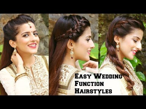3 Easy Hairstyles For Indian Wedding Occasions For Medium Hair X2f Indian Party Heatless H Hair Styles Medium Hair Styles Wedding Hairstyles For Medium Hair
