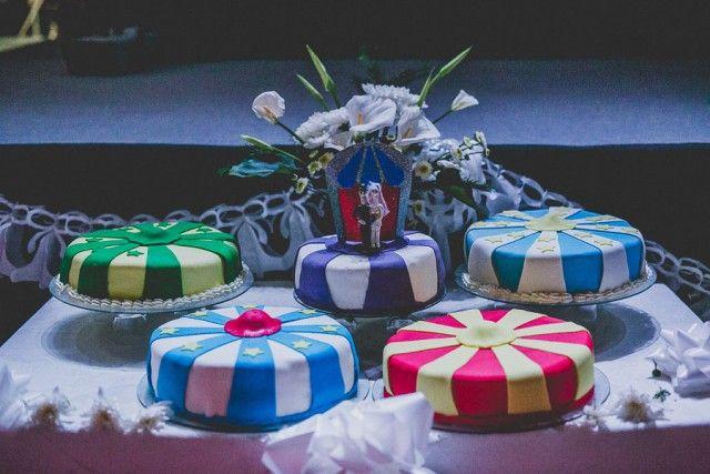 circus themed wedding cakes