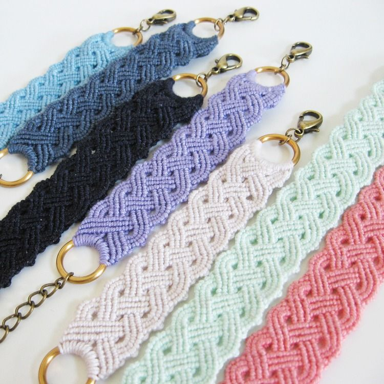 Seaside Plaited Macrame Bracelet Tutorial Download - How Did You Make This? | Luxe DIY