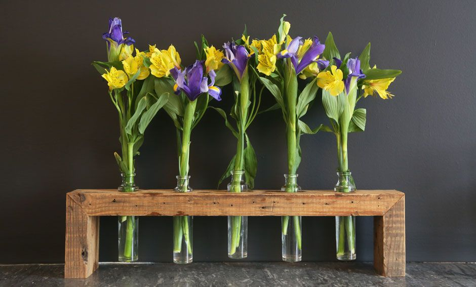 Floating Flower Vase By Vault Furniture Reclaimed Wood From Chicago