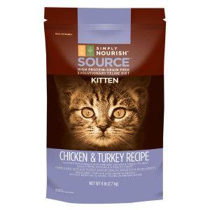 Simply Nourish Trade Source Kitten Food Natural Grain Free High Protein Chicken Turkey Kitten Food High Protein Protein