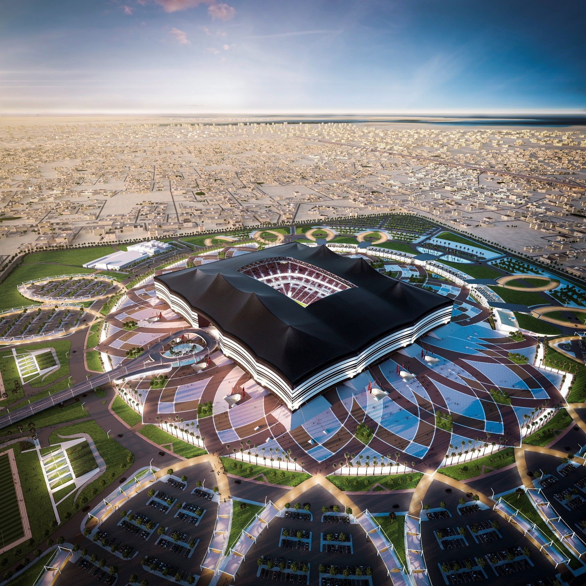 Gallery of Qatar Unveils Designs for Second World Cup