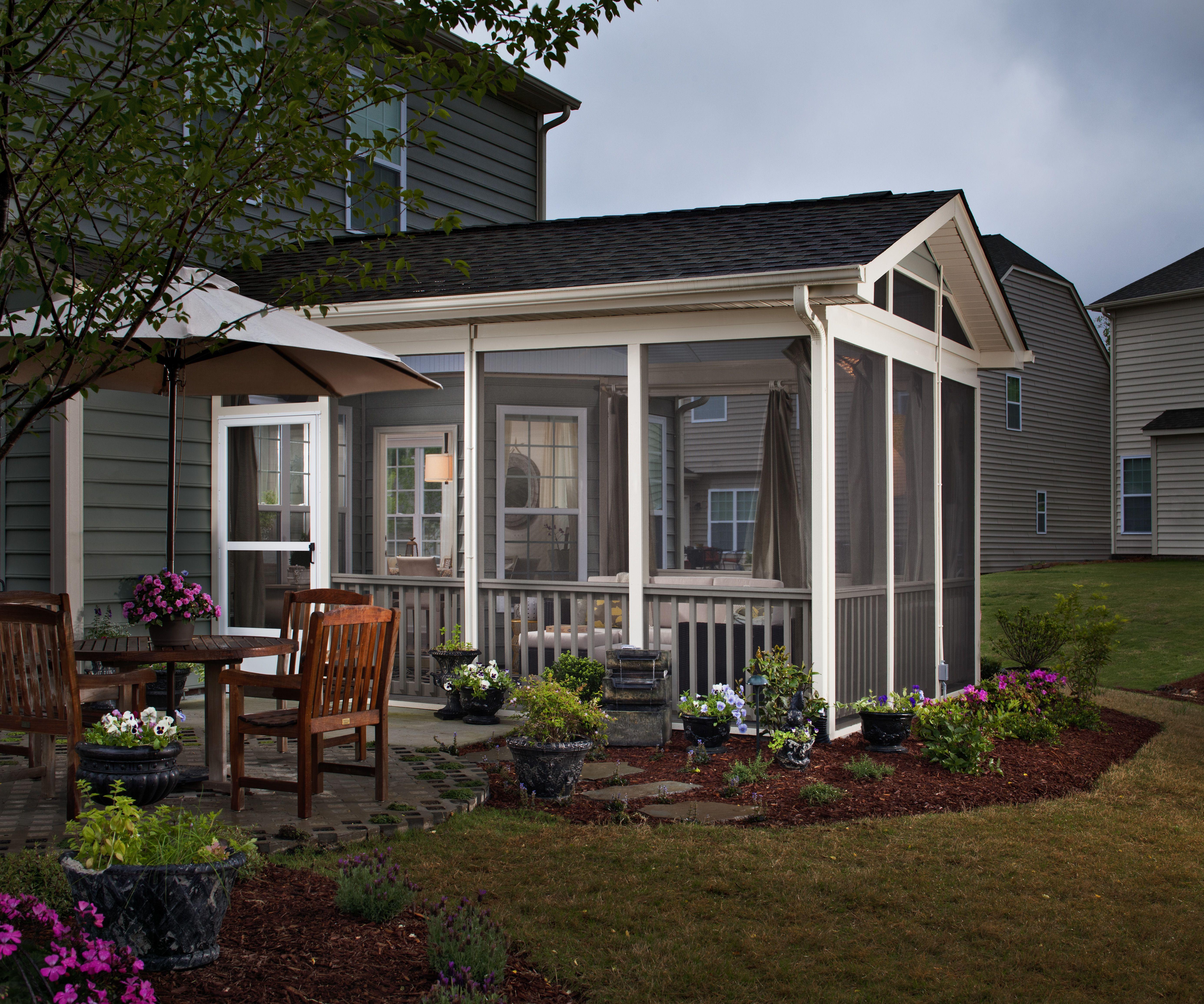 screened in patio ideas | Outdoor Fireplace | Archadeck custom decks ...
