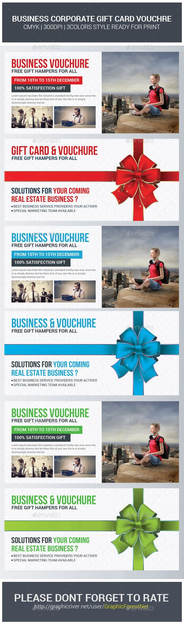 Corporate Business Gift Voucher Template   Corporate business, Font ...