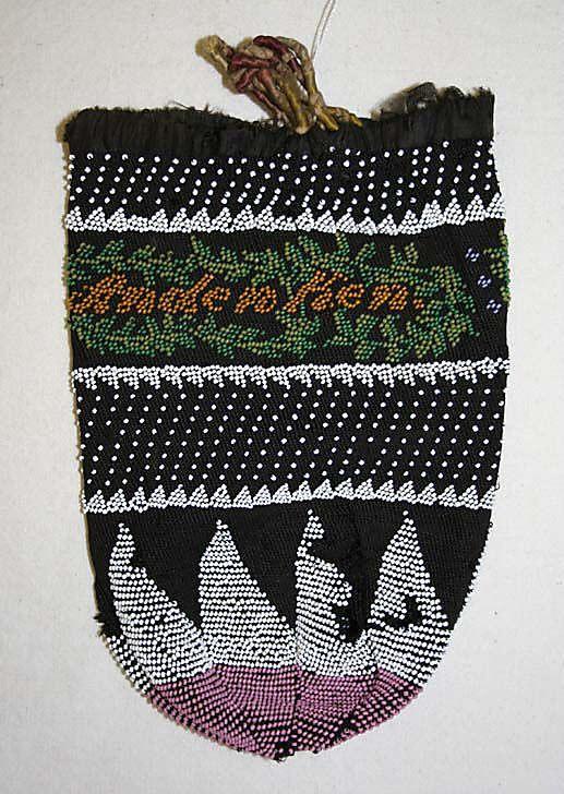 bag  early 19th c  silk  european