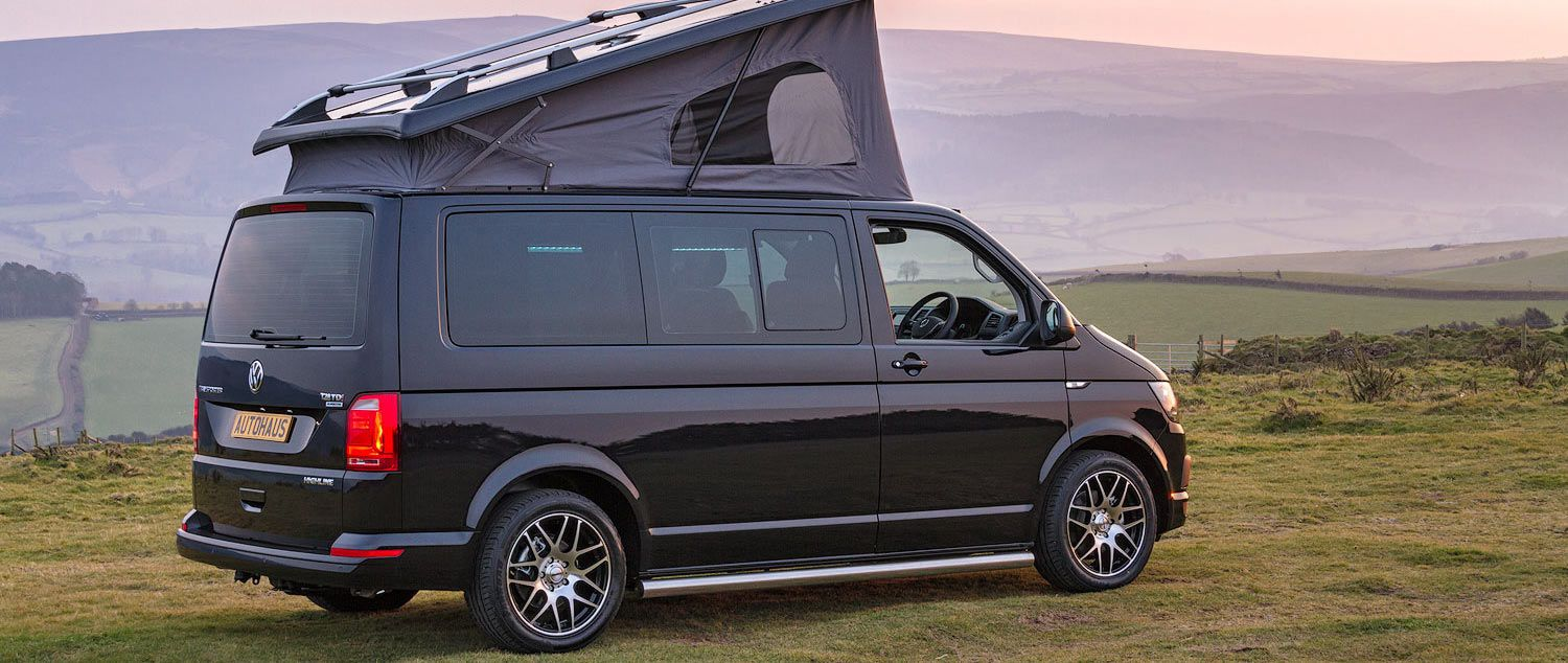 Deep Black Spartan Vw T6 Campervan Conversion Autohaus California Camping Camping Guide Camping