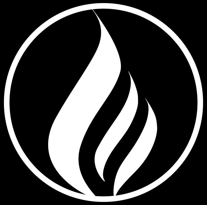 Free Image on Pixabay - Fire, Flame, Black, Circle, Logo   Fire