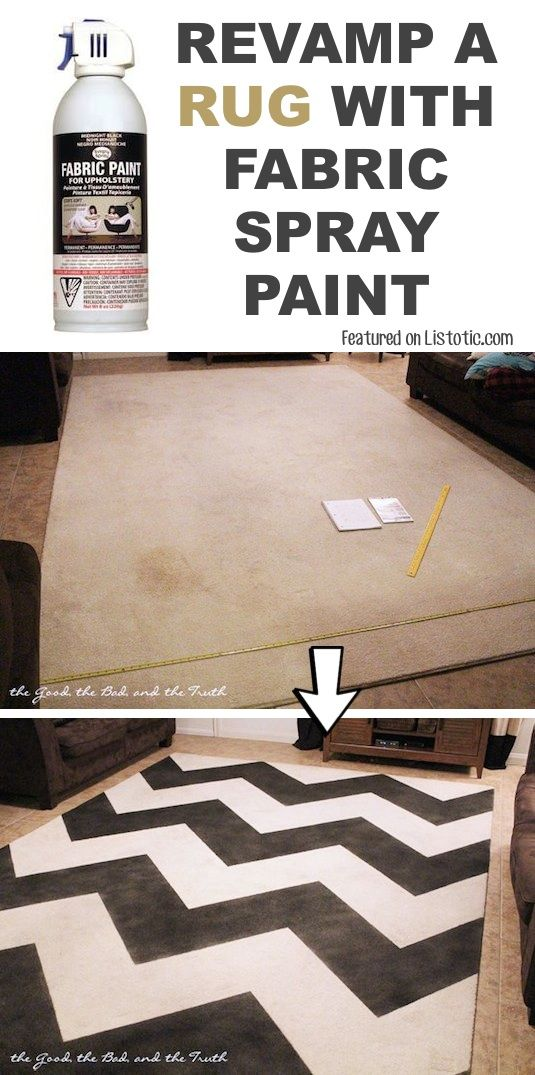 Overhaul An Old Rug With Spray Paint 29 Cool Ideas That Will Save You A Ton Of Money