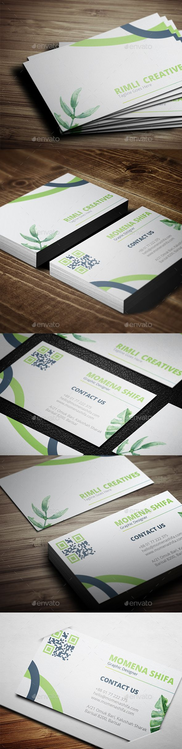 Sleek Business Card Design | Business cards, Business and Business ...