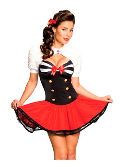 421cd61ae6018 Sailor Captain,Sexy costume, Pin Up Halloween costume, womens sexy costumes,  sexy sailor costume