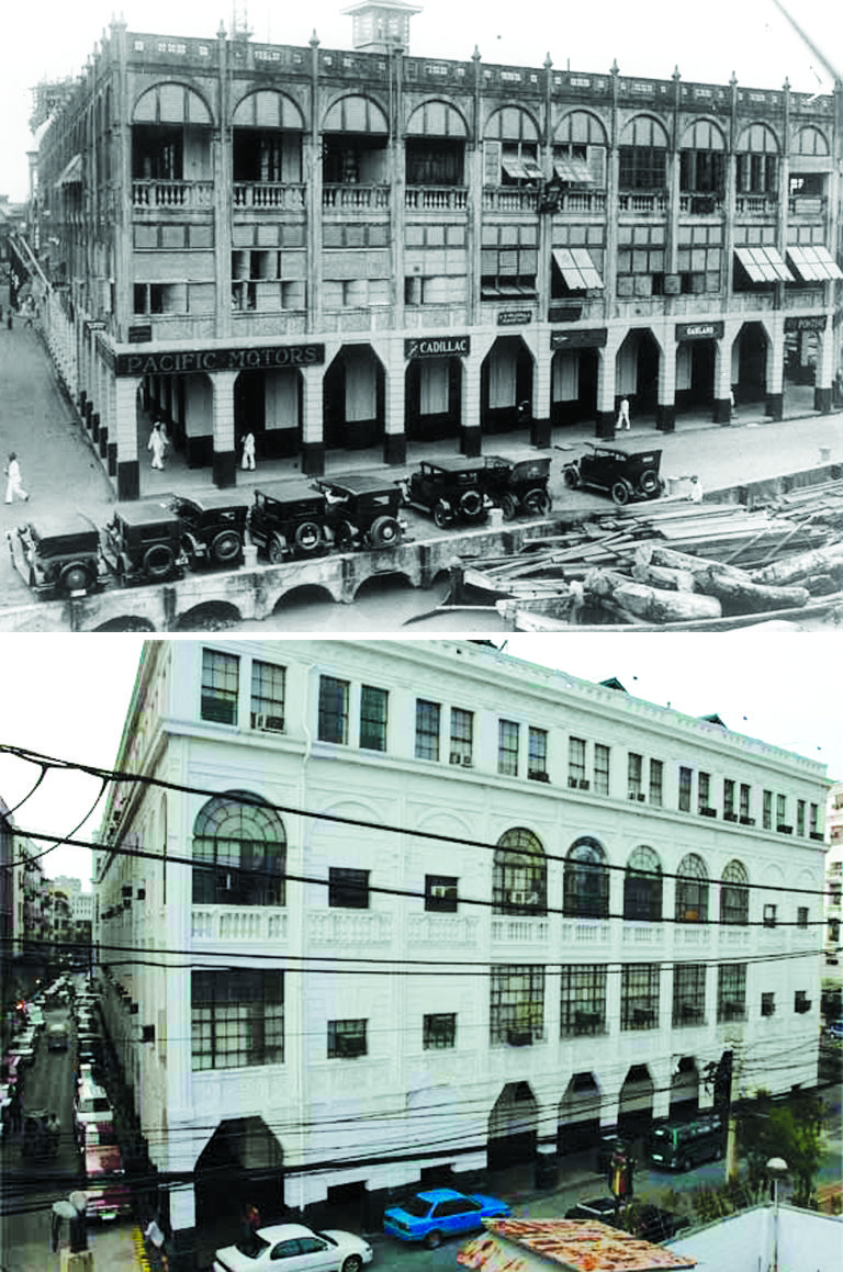At The Corner Of Burke And Escolta Streets In Manila Regina Building 1930s Was Home Cadillac Dealership Partly Damaged During