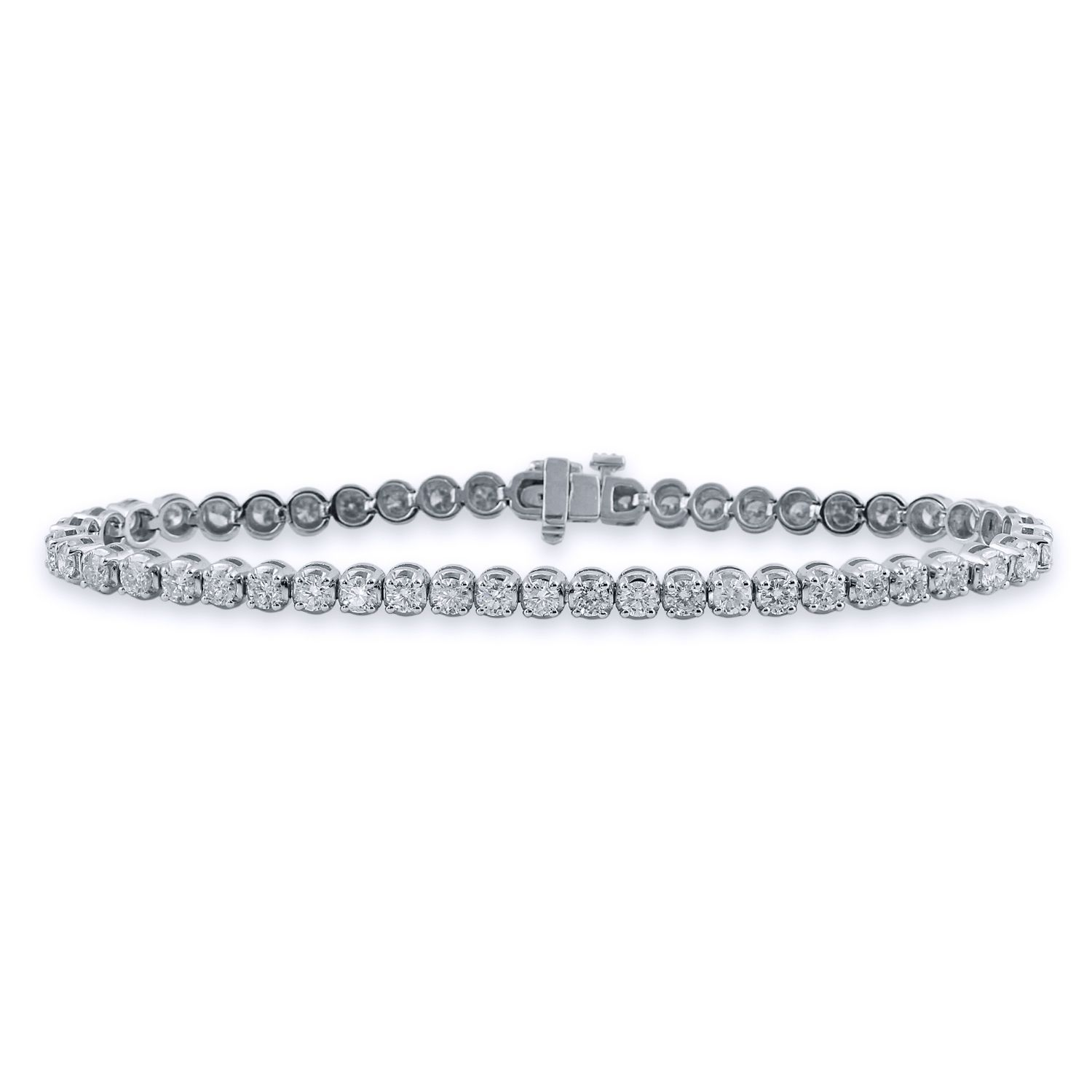 Auriya k gold ct tdw round cut diamond tennis bracelet ij vs