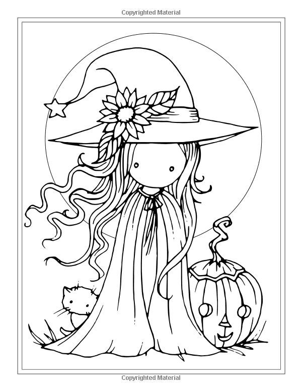 Coloring Pages For Halloween Witches : Free witch coloring page halloween pages by molly