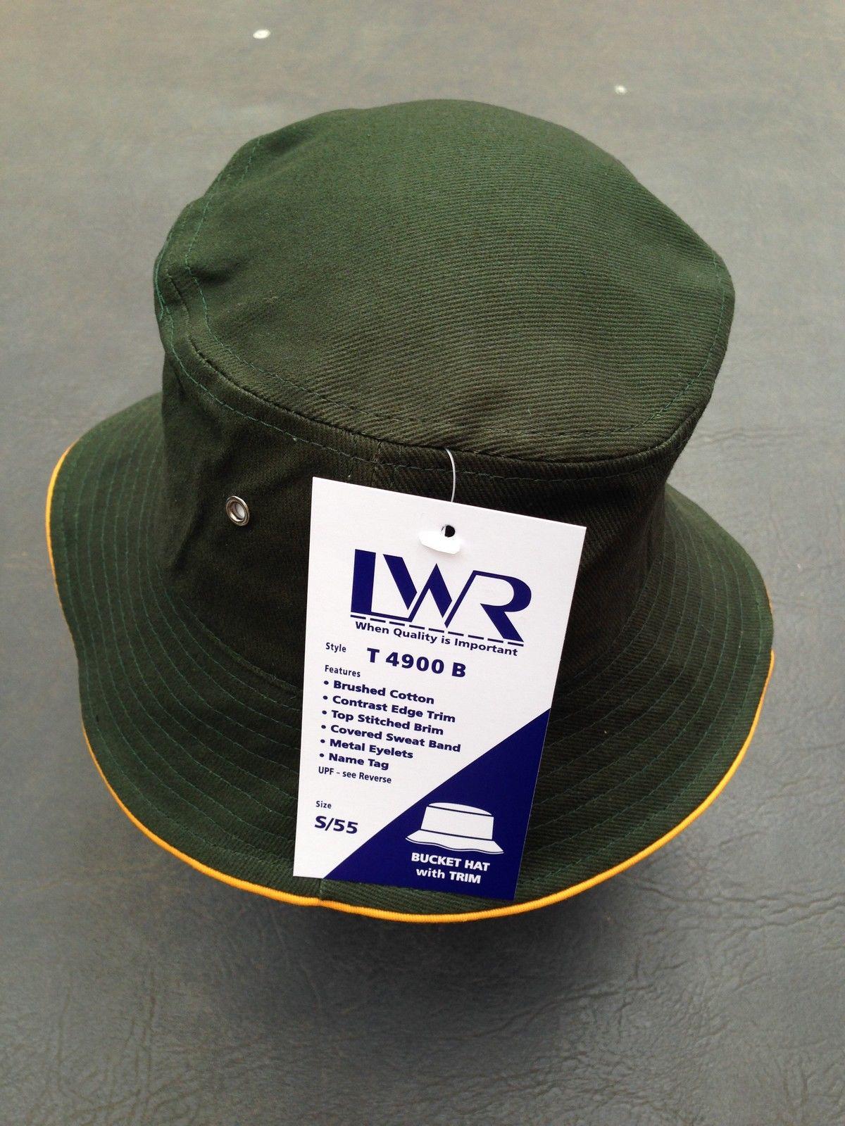5cc0ea58e $14.95 AUD - Bnwt Boy/Girls Bottle Green/Gold Trim Lwr Sz M/57Cm School  Uniform Bucket Hat #ebay #Fashion