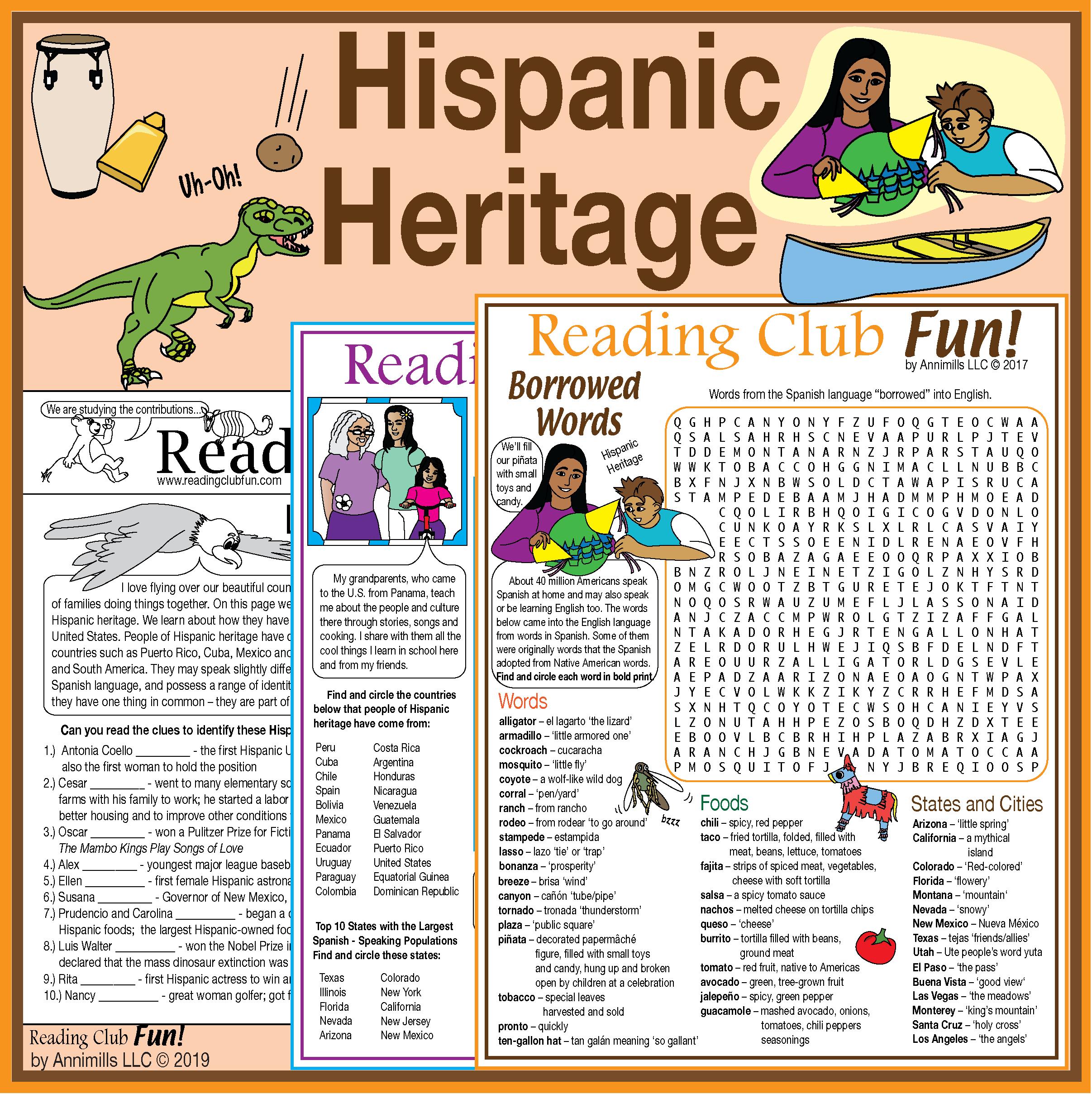 Hispanic Heritage Puzzle Set Famous Hispanic Americans