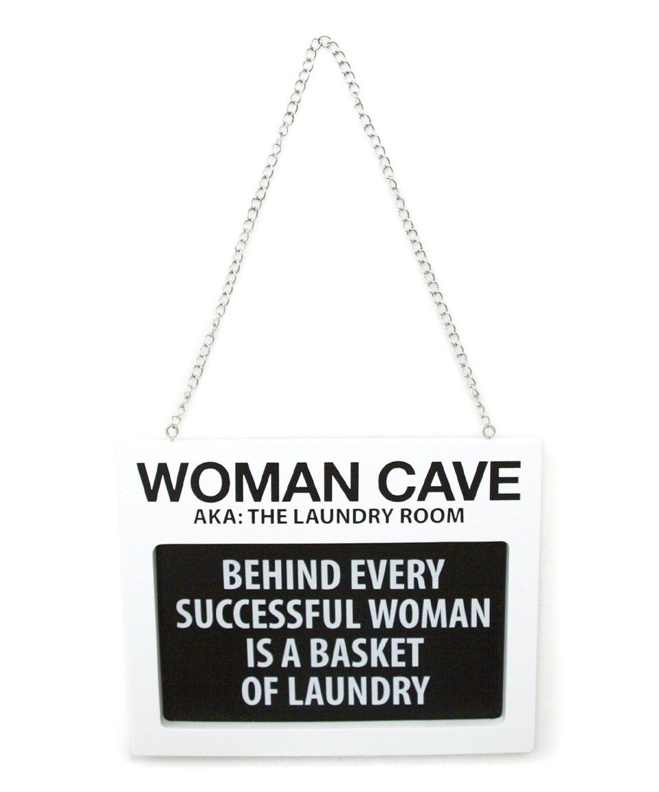 Take a look at this Our Name Is Mud 'Woman Cave' Wall Sign today!