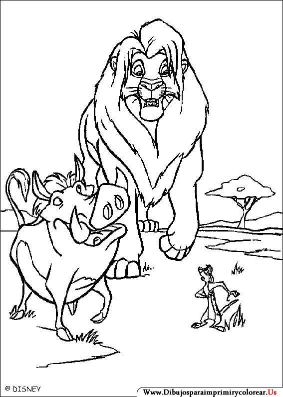Dibujos de El Rey León para Imprimir y Colorear | Colorear kids ...