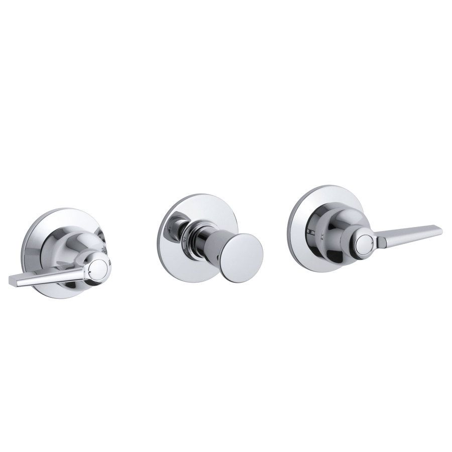Shop Kohler Triton Polished Chrome 3 Handle Bathtub And Shower Faucet Trim Kit With Single Function Showe Faucet Handles Bathtub Faucet Handles Polished Chrome