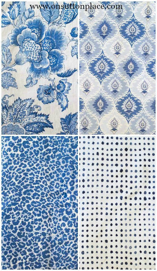 5 Tips for Mixing Fabric Patterns   Fabric patterns, Blue ...