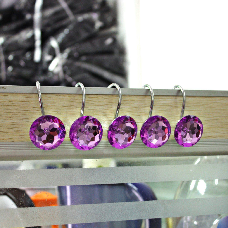 Amazon Com Shower Curtain Hooks Diamond Shape Shower Rings Round
