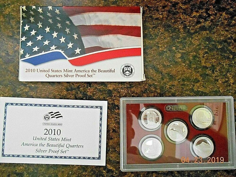 Coins from Silver Proof Set 2017 S America the Beautiful National Parks U.S