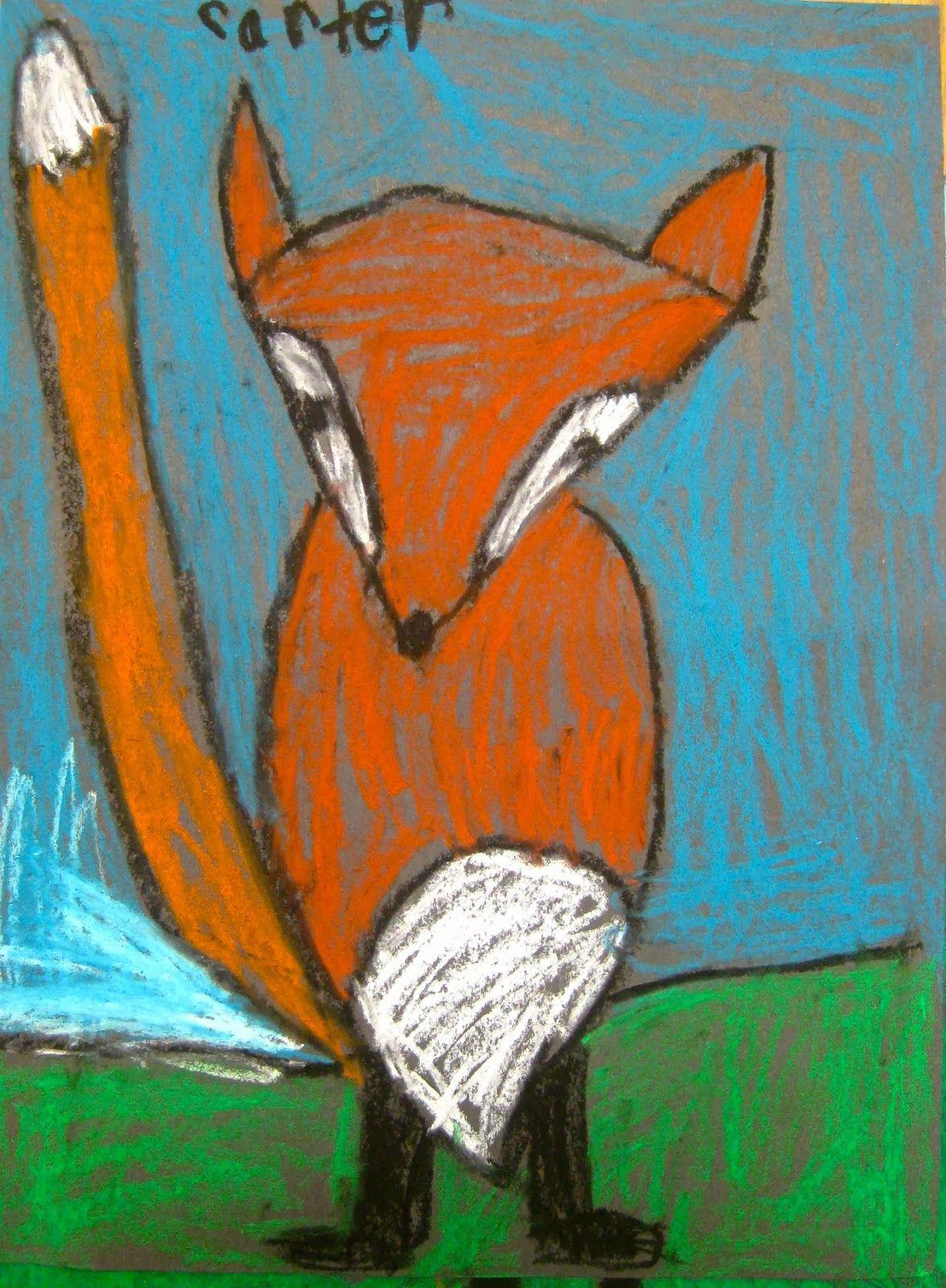 How To Draw A Fox Elementary Art Lesson Plans Fox Art