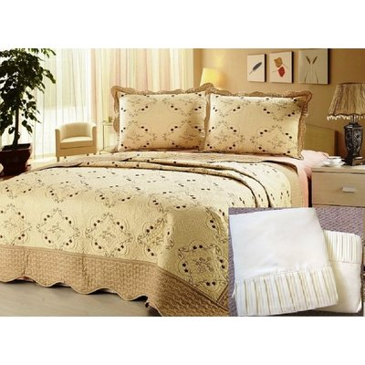 3 Piece Reversible Quilted Bedspread Coverlet All Sizes 20 Colors!!!