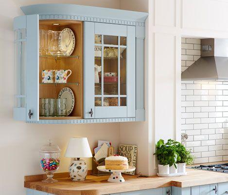 Polka Dot Howdens 05 Pint Mugs In Tewkesbury Blue Glass Wall Extraordinary Dining Room Wall Units Design Ideas