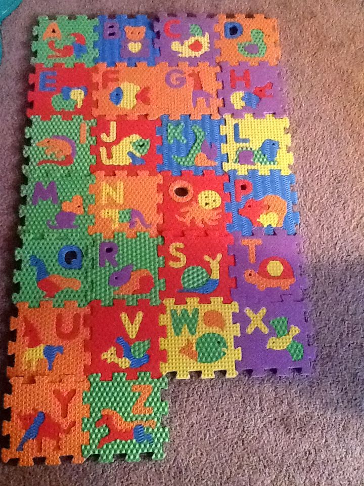 Abc Amp Number Foam Puzzle Blocks Games Kids 2 4 Foam