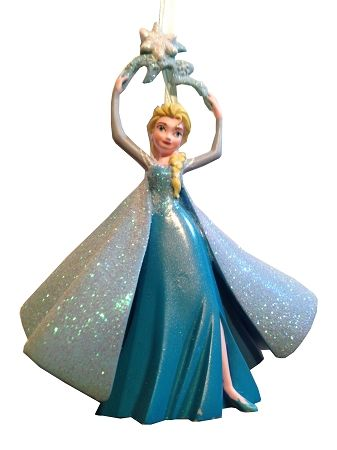 disney christmas ornament elsa holding snowflake frozen - Elsa Christmas Decoration