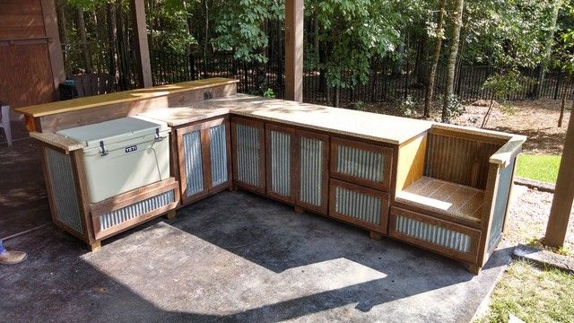 Outdoor Patio Bars And Bar Rustic Patio