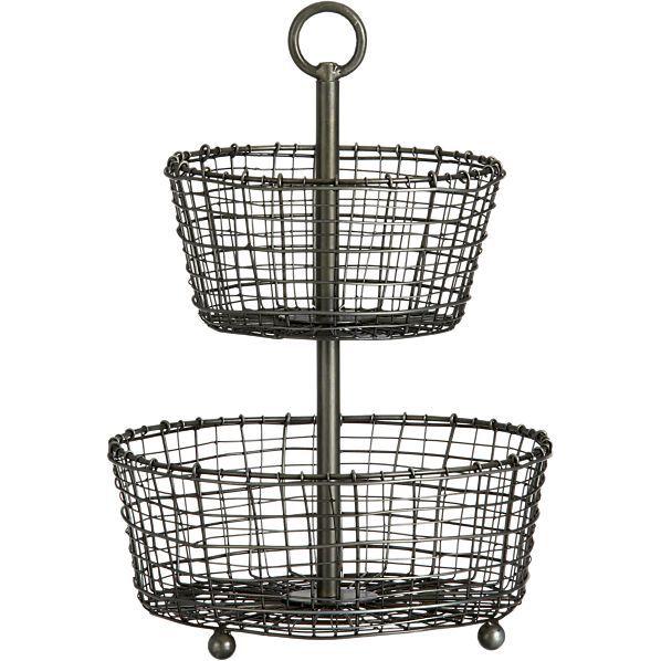 Bendt 2-Tier Iron Fruit Basket