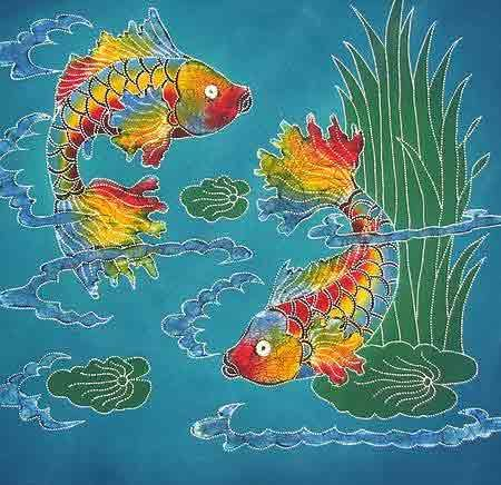 Batik Fish Fish Quilt Fish Design Art Quilts