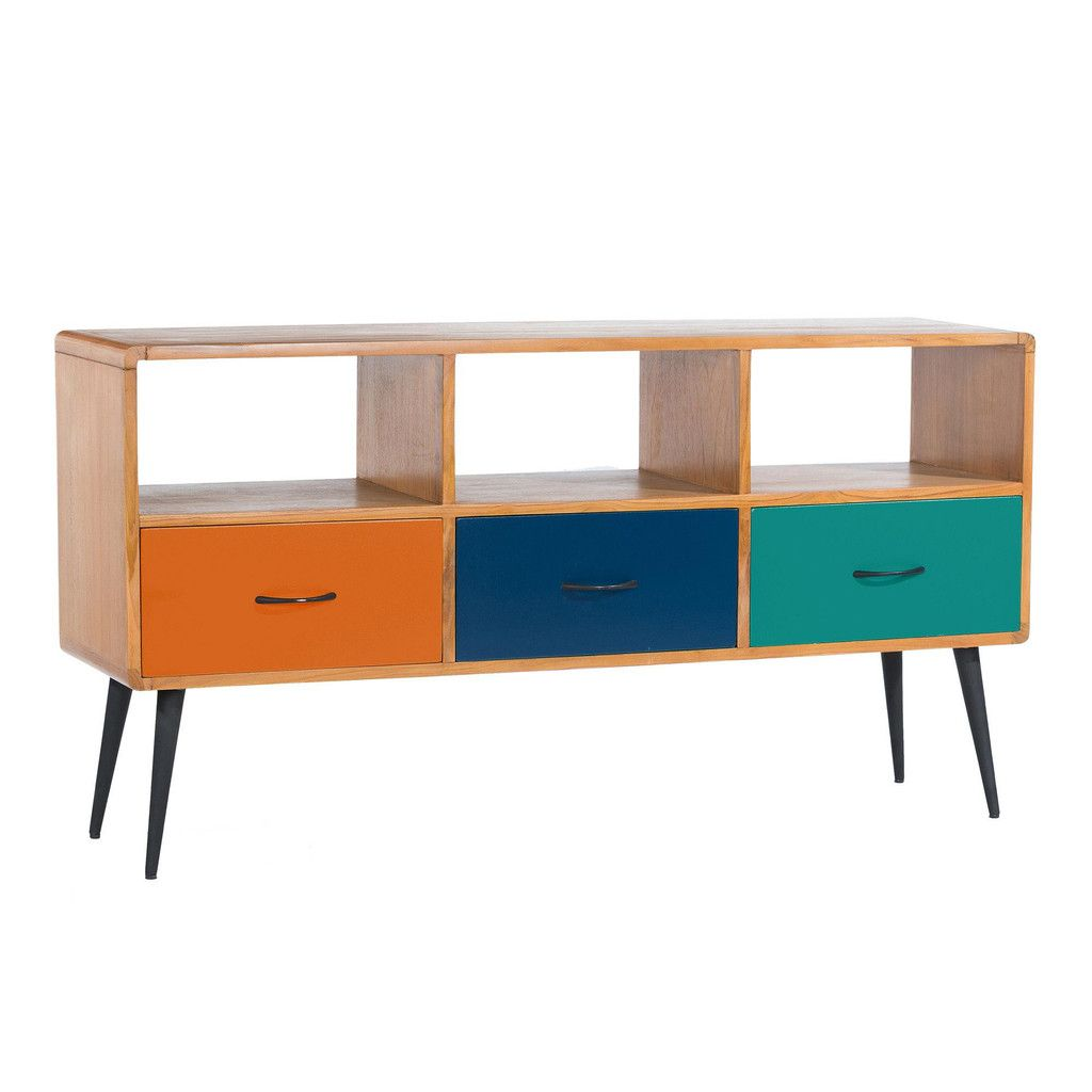 Ex Debenhams Comet Funky Retro Tv Cabinet Only 359 Bargain  # Meuble Tv Neon