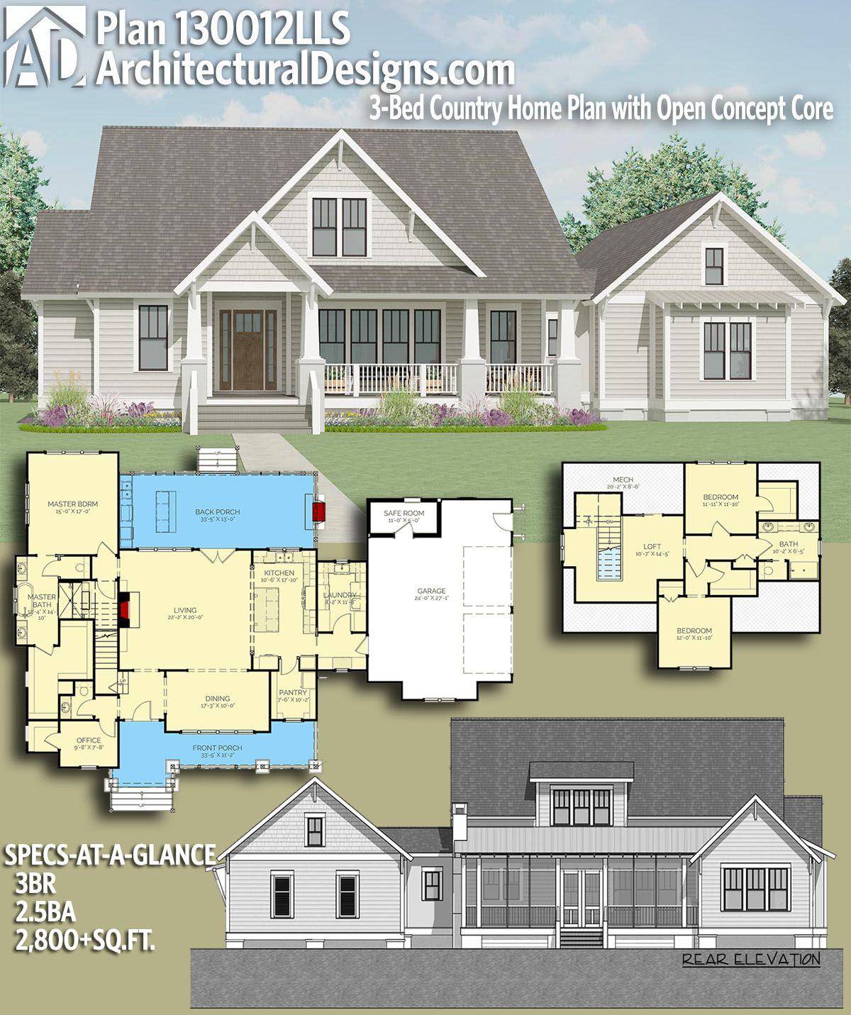 16++ Open concept farmhouse plans info