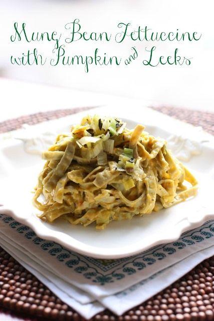 Leek And Pumpkin Fettuccine Recipe Fettuccine Recipes Healthy