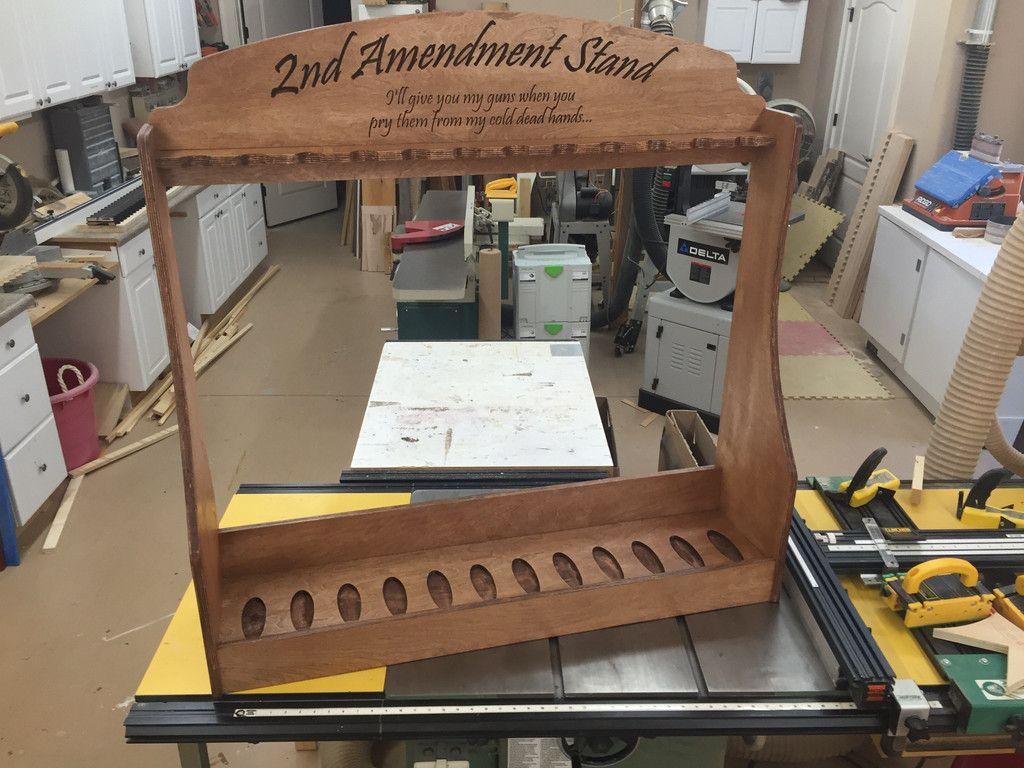 Vertical Gun Rack 2nd Amendment Stand Kaylee Designs