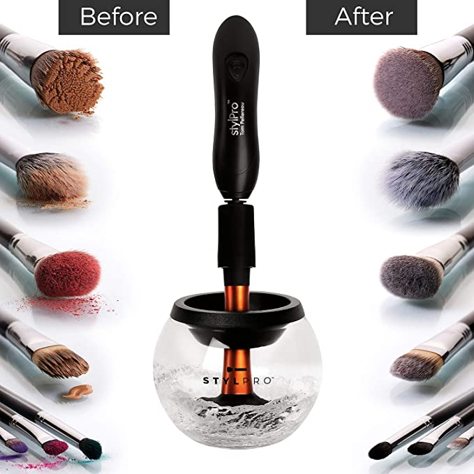 STYLPRO Makeup Brush Cleaner Dryer 2 in 1 Bowl Washer