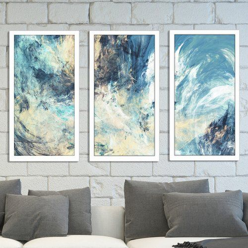 Found It At Wayfair Feeling Blue 3 Piece Framed Painting Print Set Painting Frames Painting Prints Painting