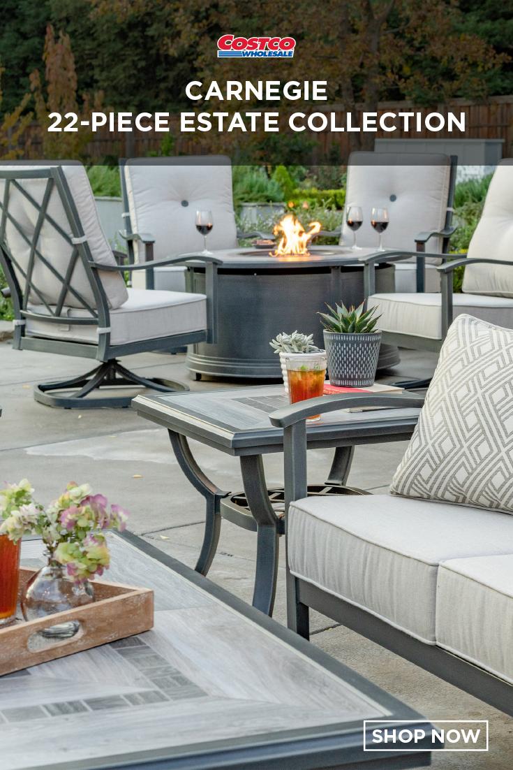 Carnegie 22 Piece Estate Collection Outdoor Furniture Sets 7