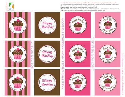 INSTANT DOWNLOAD,favor tags,printable file,Pink,party birthday tags thank you,birthday tags-printable thank you tags for birthdays