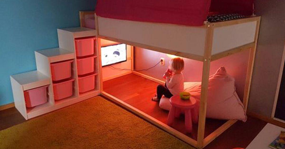 Het Bekende Kinderbed Ikea Kura Omtoveren Naar De Meest