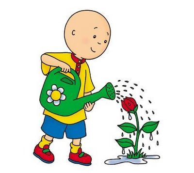 Water The Most Important But Negelected Factor In Your Gardening Gardening Abc Caillou Children Illustration Cartoon Characters