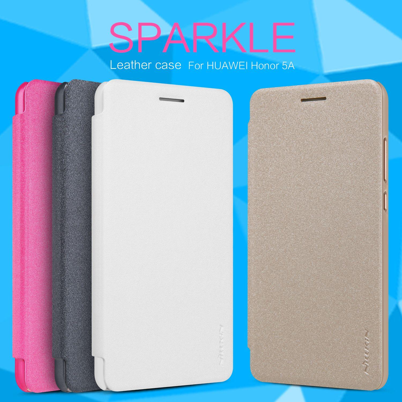 Nillkin Sparkle Series Luxury PU Leather Case For Huawei Y6 II ...