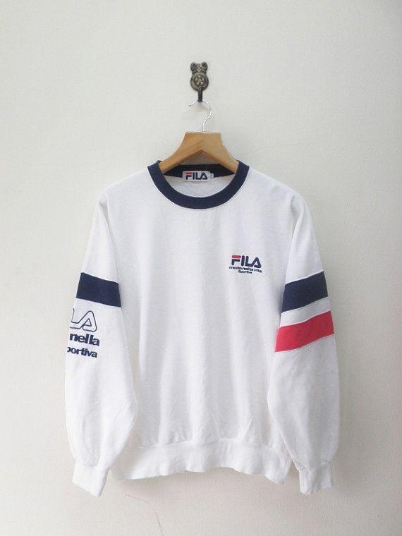 Vintage 90's Fila Moda Nella Vita Sportiva Sweatshirt Sport Pullover  Sweater Hip Hop Street Wear Size