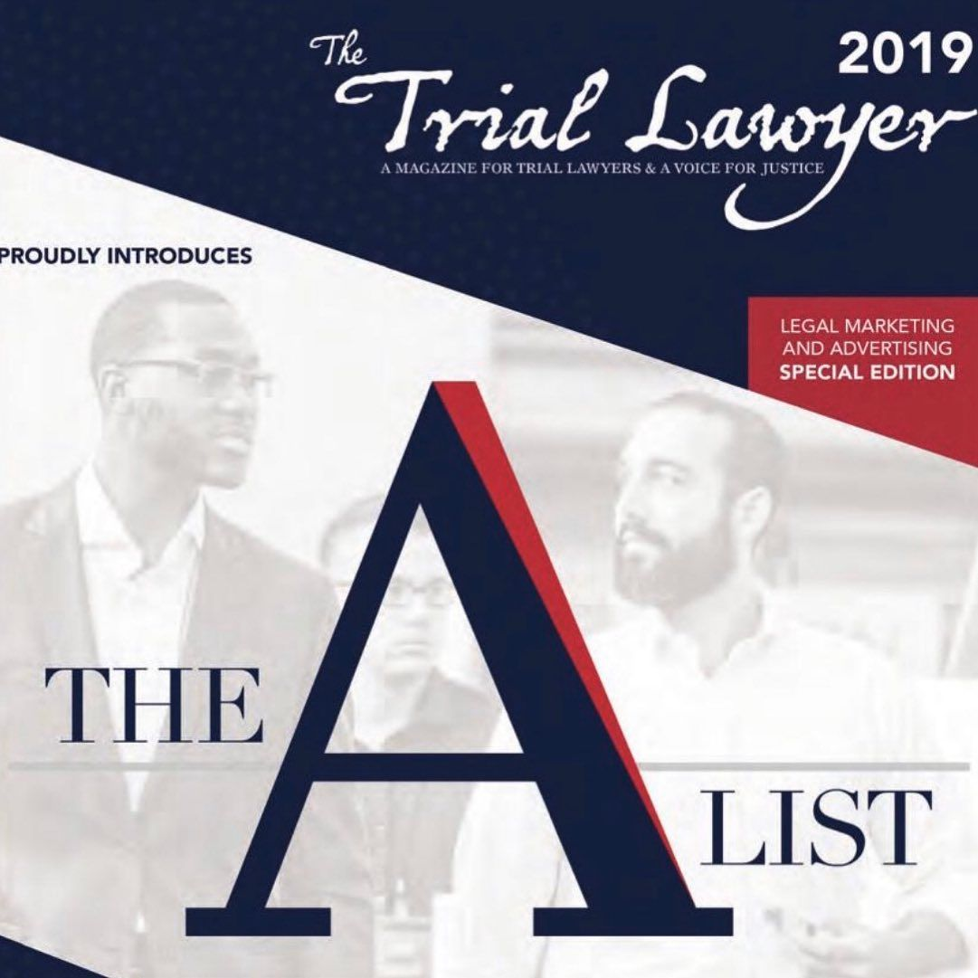 A Great Honor To Grace The Cover Founding Attorney Jacob Schiffer Alongside Attorney Friend And Colleague George Oginn In 2020 Trial Lawyer Law Firm Legal Marketing